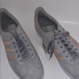 Adidas GAZELLE Sneakers Gray/Pink - Womens